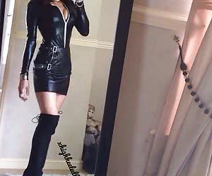 Shiny Dress And Outfit